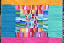 Solid coloured quilts