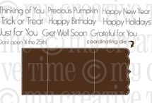 Gift Card Sentiments / Inspiration for this stamp set!