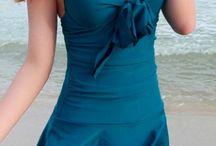 one-piece swimsuit skirt