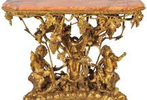 Antique French Empire Style Carved Wood Ormolu Furniture