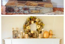 fireplace makeover / by Brianna Holifield