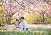 Spring blossom family photography