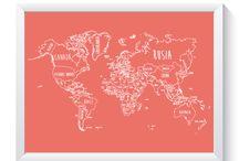 Mapas by Muguet / Estos son nuestros mapas y nuestra inspiración!