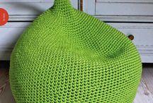 crochet seat/pillow