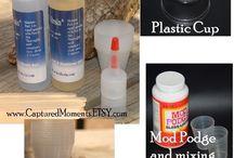 Artesanía de la resina