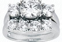 Three Stone Engagement Rings / This is a small sample of the three stone rings we offer. Stop in to see the other shapes, colors & sizes available to fit in your budget.