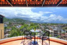 Casa Viaje Puerto Vallarta Mexico / Great tropical town home with spectacular views in Puerto Vallarta, Mexico.  Great income suite on main level.  Roof top deck with great potential and views.  For Sale.