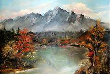Obrazy - Príroda / Obrazy ručne maľované