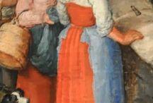 strój kobiecy XVI XVII