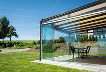 Das Terrassendach TERRADO mit Ganzglas-Schiebeelemente / Die KLAIBER Terrassenüberdachung mit Rundum-Verglasung