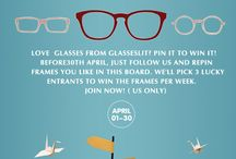 Pin to Win free frames! / Love  glasses from Glasseslit? Pin it to win it! Before30th April, Just follow us and repin frames you like in this board. We'll pick 3 lucky entrants to win the frames per week. Join now! ( US only)