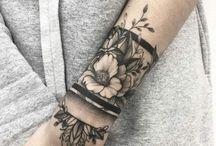 Tattoo - Wristband and arm