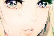 images manga triste/pensive
