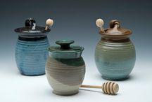 Pottery Honey Pots