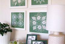 cuadros y trabajos en crochet