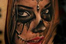 tattoos girl face