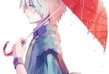 Anime rain boy