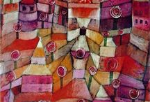 """February 2014 Art Bead Scene Monthly Challenge / Dream of spring with Paul Klee's """"The Rose Garden""""  - and submit your entires here! http://artbeadscene.blogspot.com/2014/02/february-monthly-challenge.html"""
