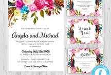 Wedding Printables Invitations Seating Charts