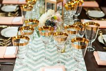 • Mint & Gold • / A mood board dedicated to mixing Mint Green with Sparkling Golds