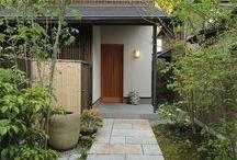 玄関,庭、デッキ、ガレージ