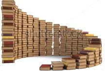Book Stacking / Books stacked in an attractive and artistic manner.