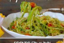 espaguetti de abobrinha ao alho/óleo