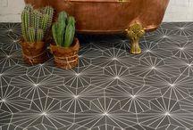 Geometric designs / #interiors #homedecor #tiles #concretetiles#cementine #geometric