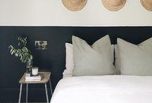 slaapkamer zwart wit