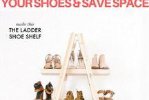 organisering av sko, klær ol.