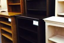 Bookcases / WE HAVE A LARGE SELECTION OF BOOKCASES AT THE WOODEN CHAIR! WE CARRY FINISHED BOOKCASES AND UNFINISHED BOOKCASES FOR YOUR HOME OFFICE, LIVING ROOM, BEDROOMS, OR ANY OTHER ROOM WHERE YOU NEED SOME EXTRA STORAGE SPACE.