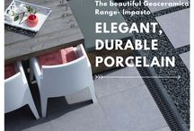 Porcelain Paving for a moden patio. / Create your dream modern designed porcelain paving with these porcelain paving ideas.   #design #porcelain #paving #patio