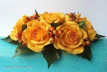 Цветы для букета из гофрированной бумаги
