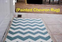 Chalk Paint / Painting a rug