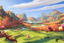 illustration for children - landscapes