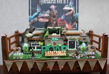 Dinosaur 3rd Birthday Party / Dinosaur T Rex 3rd Birthday Party Candy Buffet / Lolly Buffet