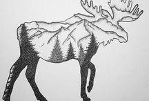 Moose Tattoos