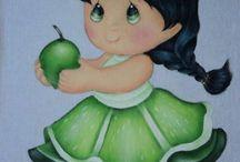 pintura pano de prato