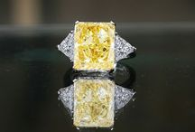 Simulated Diamond Canary Ring