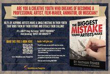 Artist Encouragement / encouragement for the young and aspiring artist, illustrator, film-maker, animator, or musician