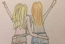 #tekening voor je best friend