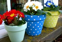!!! Recycled - Painted plant pot