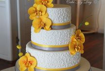 Anna - cakes / Cake Ideas: Love the idea of cupcakes or petit fours with fondant sunflowers (which I can make)