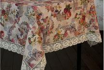 Льняные скатерти l linen tablecloths / Льняные скатерти с невероятными принтами l Linen tablecloths with fabulous prints