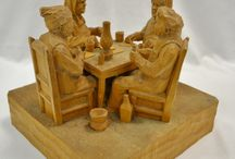 Dramatic Wood Carvings / Statement piece wood carvings from master sculptures in Canada and around the world.