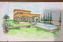 TOSKANA KONAKLARI CESME / mimari, tasarım, inşaat, yeni proje, ev, villa, iç mimari, iç mimari, peyzaj, bahçe tasarımı