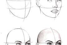 Face drawing tutorials