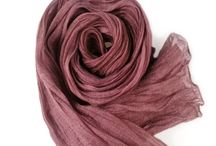 Gobge Natural Dyeing Soft Feel Silk Shawl Scarf ( Wine )