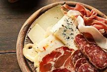 Charcuterie & Fromage / All day I dream of sopressata, salametti, french baguettes, duck confit, pâtés, cornichons, olives, merlot, and mostarda..
