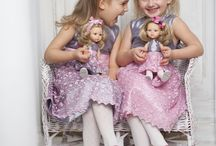 La Lalla dresses / La Lalla clothes collection. Beautiful dresses for little girls and the same dresses for dolls. Custom dolls.